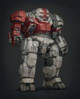 MechWarrior - B33F's Atlas by Shimmering-Sword