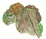 COLLAB - turtle monster in color by AmyTheSpiritSeeker