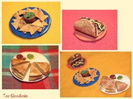 Mexican food miniatures by star--crossed
