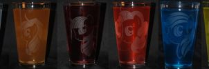 MLP FiM Drinking Glasses by Clinkorz