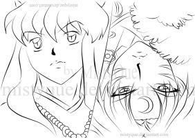 Brothers - line art by MistyQue