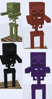 Minecraft Mob Ideas - Effect Skeletons by RedPanda7