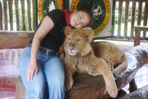 Me and Simba by seawaterwitch