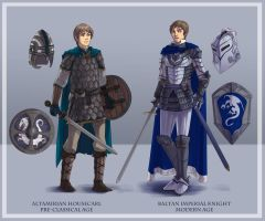 Baltan Knights Past and Present (commissioned) by vassal-of-bahamut