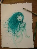 GreenWaterColorDoodle by GirlsandBots