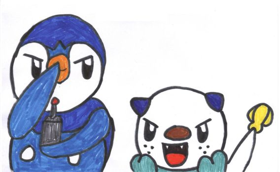 Piplup and Oshawott together by sims123sims