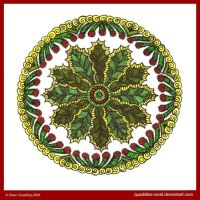 Holly Mandala by Quaddles-Roost