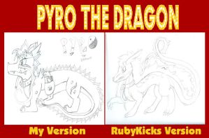 Pyro The Dragon- Me and RubyKicks versions by Destiny-The-Hedgimon