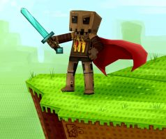 Minecraft: Sword Up Cape Down by Kinla