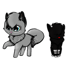 Shemha and Kita  -  chibis by Shemha