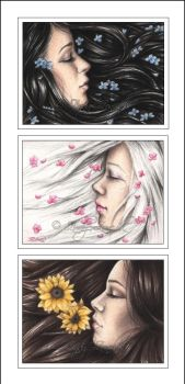 ACEO - Dreamy Girls Series 1 by Zindy