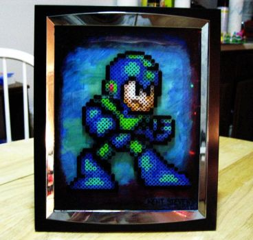 Megaman Beads by kittypizzadude