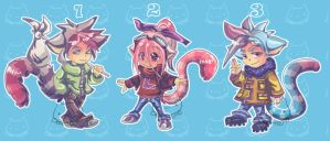 Lemurs Adoptables IV {open) by cafe-neko