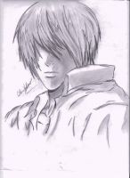 Light Yagami Sketch by nightmarefreak101
