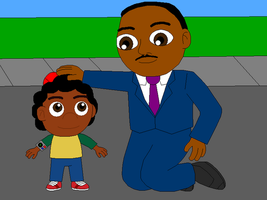 Quincy meets Martin Luther King Jr. by Gamekirby