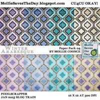 Winter Arabesque Paper Pack 4 by Mollie-Coonce