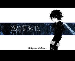 L wallpaper death note by yatta-chan