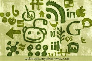 Social Media Grungy Watercolor by WebTreatsETC
