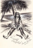 Captain Jack Sparrow. On the island. by Bormoglot