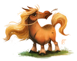 Sketch Dailies Challenge - Cool Shetland Pony by Cryptid-Creations