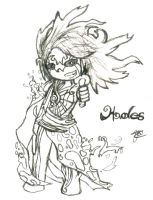 Hades chibi from Kid Icarus by SeangelSaph