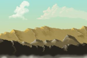 Mountain and Cloud practice by Glaiceana