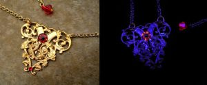 Gold and Red Heart - Elegant Steampunk by LadyPirotessa