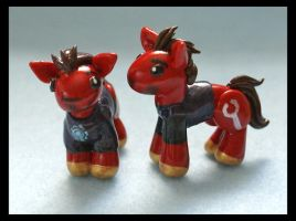 Tony Stark Ponies by balletvamp