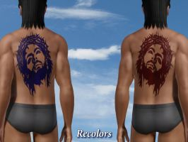 Jesus Christ - Tattoo Recolors by allison731