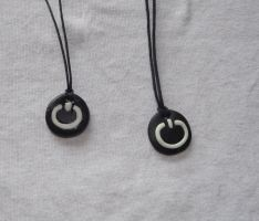 Power button necklaces by MeticulousBlue