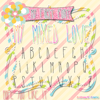 My Mixed Love Font by AndreeaArsene