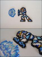 Megaman xx shooting Haduken bead sprite by 8bitcraft