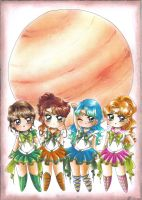 C: Chibi Jupiter Moon Senshi group by Toto-the-cat