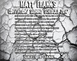 2014 Convention Schedule (Subject to Change!) by KaijuSamurai