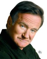 Drawing Robin Williams by Heatherrooney