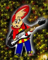 500 Hits- Alvin on the Guitar by VegetarianKitty