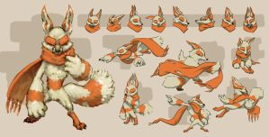 Scarf Fox by fluxmage