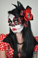 Minnie Mouse Muertos by The-Wild-Kat