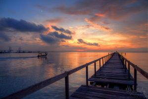 Sunrise of Teluk Tempoyak, Penang by fighteden