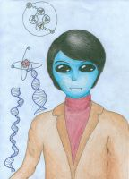 This should be Carl Sagan as Alien (lol) by Abstract-scientist