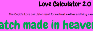 Me and King Candy Love calculator result by Leonah728