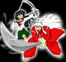 Inu-yasha and Kagome by Tailef