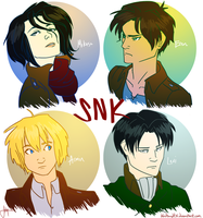 Attack on Titan Characters by blindbandit5