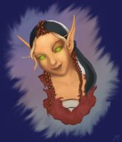 Sin'dorei Portrait - WoW by MoonWhing