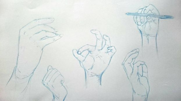 Hand sketches  by hugofb87