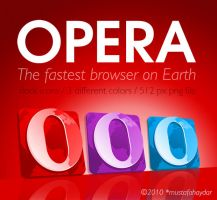 opera - colorful dock icons by mustafahaydar