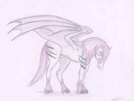 Pink Demon Horse by Lady-Envy