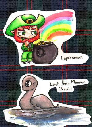 Irish and Scottish mythical creatures chibi's 2