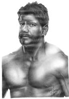 Eddie Guerrero Pencil Drawing by Chirantha