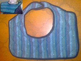 Quilted Burping Shoulder Bib by gurihere